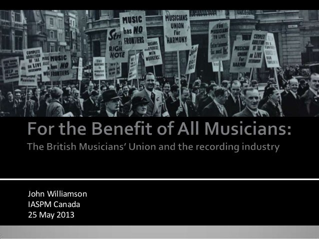 John Williamson IASPM Canada 25 May 2013