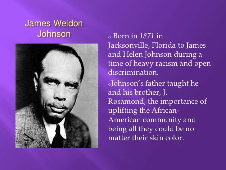 What did James Wheldon Johnson do for the Harlem Renaissance and who was he???