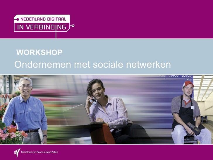 Workshop Ondernemen Met Sociale Netwerken   Bij Werkboek