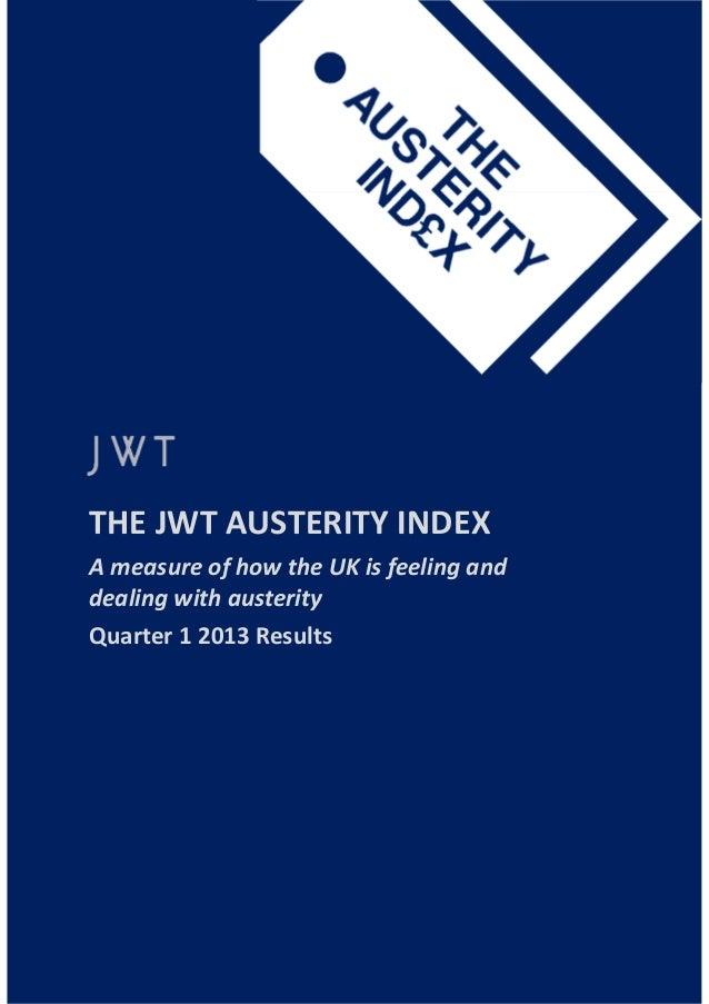 Jwt austerity index q1 2013 final