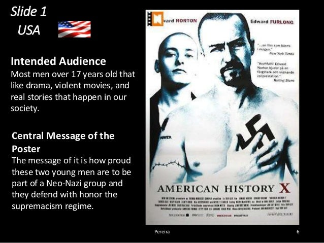 essay on the movie american history x American history x impressed people because it is one of the few movies have shown the problem was the redemption of the interior of the problem thanks to several charismatic figure can be designed on a philosophical level, this film is entirely in agreement with many authors of doctrines.
