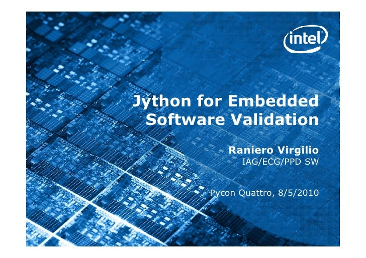 Jython for embedded software validation