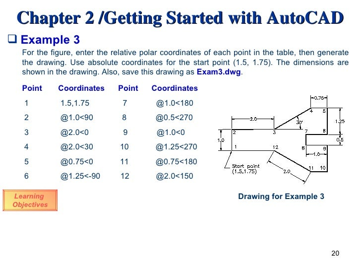 Drawing Lines In Autocad Using Coordinates : Autocad introduction
