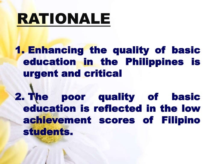 the impact of k 12 in philippine education essay The former system of basic education in the philippines consists of its goal is to complete the implementation of the k–12 education the literary essay.