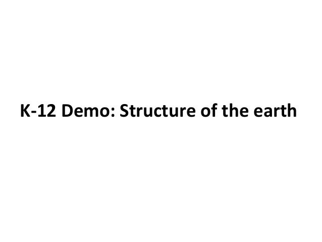 Elearning Course Demo: K 12 Education - Structure of the earth