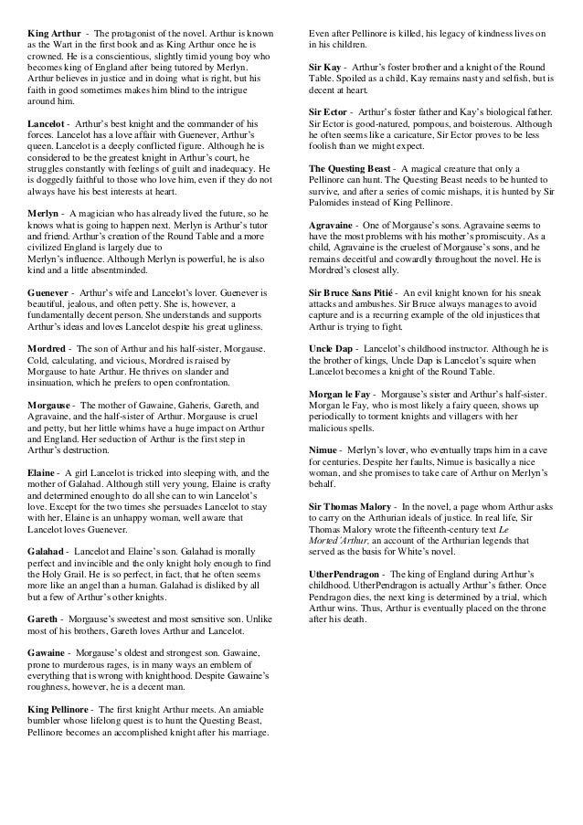 King Arthur Characters