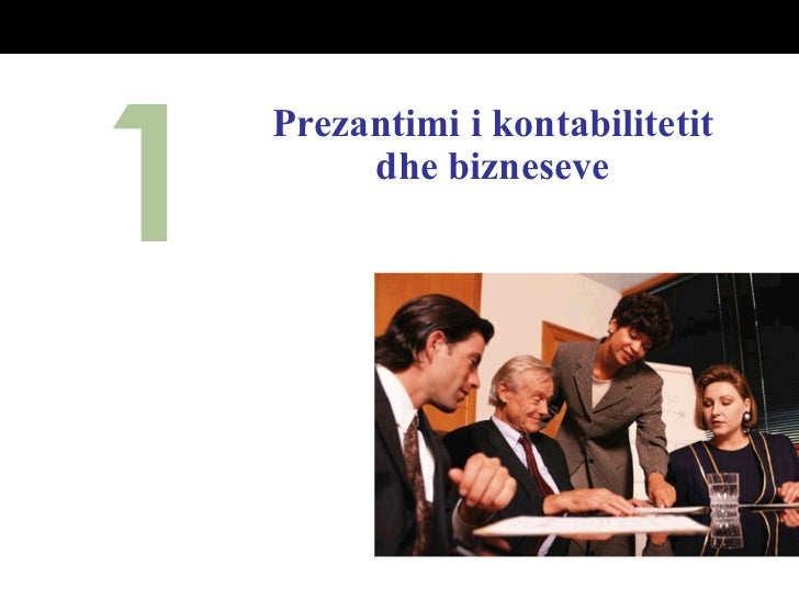 K 1 prezentimi i kontabilitetit dhe bizneseve