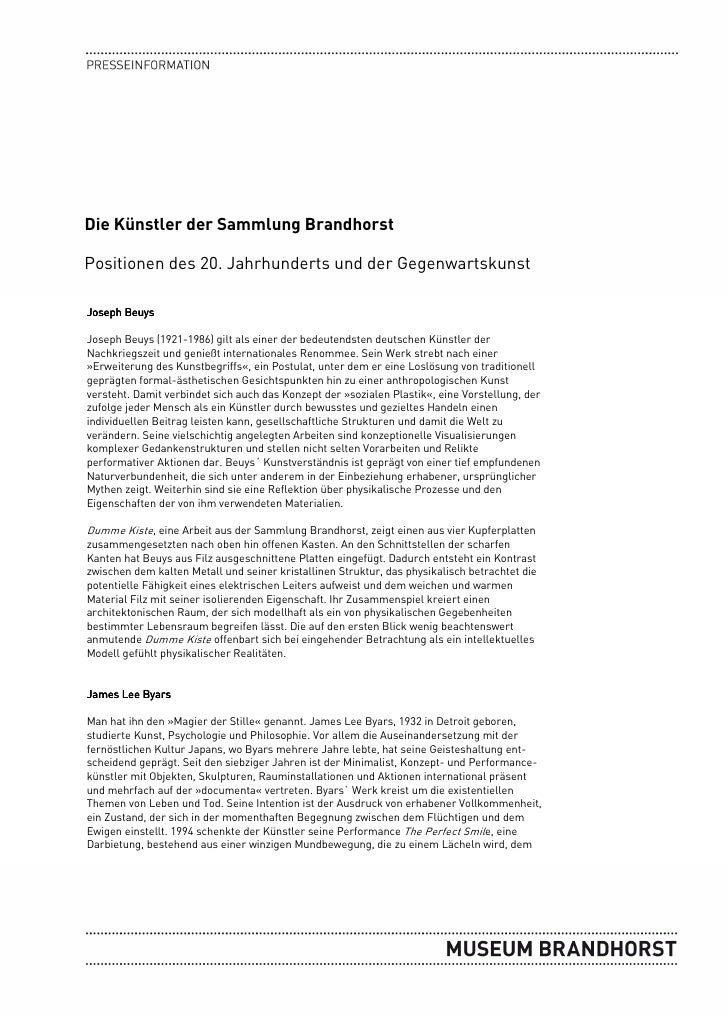 Die Künstler der Sammlung BrandhorstPositionen des 20. Jahrhunderts und der GegenwartskunstJoseph BeuysJoseph Beuys (1921-...