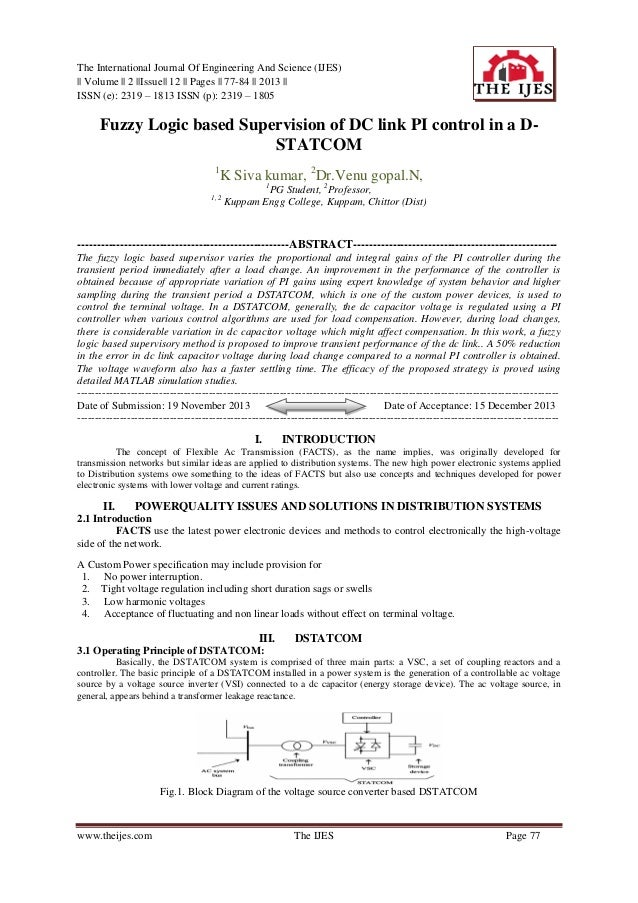 The International Journal Of Engineering And Science (IJES) || Volume || 2 ||Issue|| 12 || Pages || 77-84 || 2013 || ISSN ...