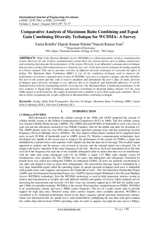 International Journal of Engineering Inventions e-ISSN: 2278-7461, p-ISSN: 2319-6491 Volume 3, Issue1 (August 2013) PP: 72...