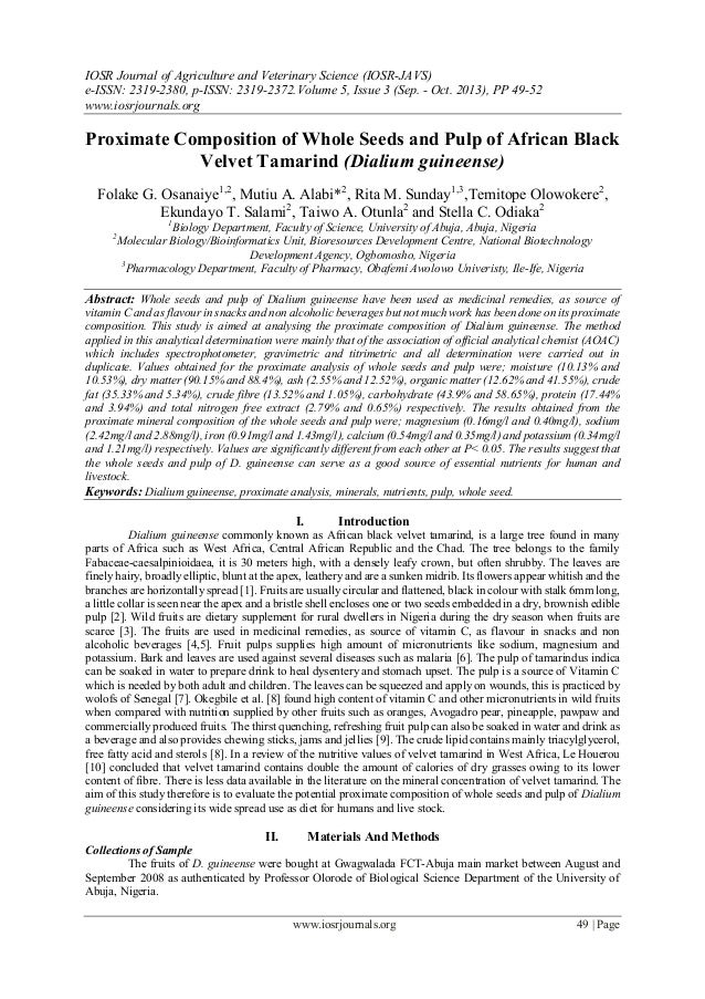 IOSR Journal of Agriculture and Veterinary Science (IOSR-JAVS) e-ISSN: 2319-2380, p-ISSN: 2319-2372. Volume 5, Issue 3 (Se...