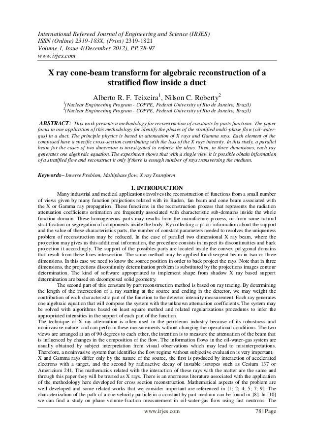 International Refereed Journal of Engineering and Science (IRJES)ISSN (Online) 2319-183X, (Print) 2319-1821Volume 1, Issue...