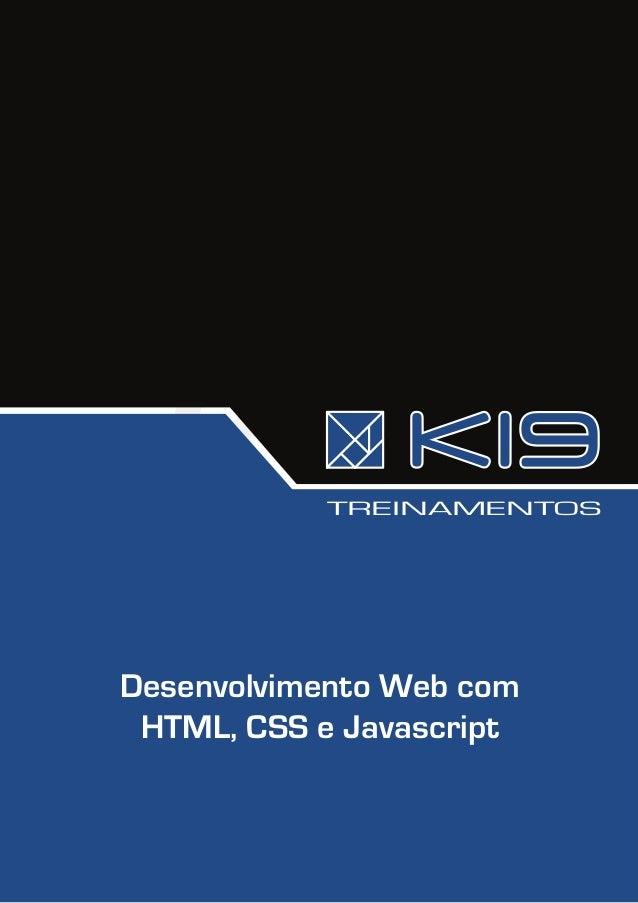TREINAMENTOSDesenvolvimento Web com HTML, CSS e Javascript