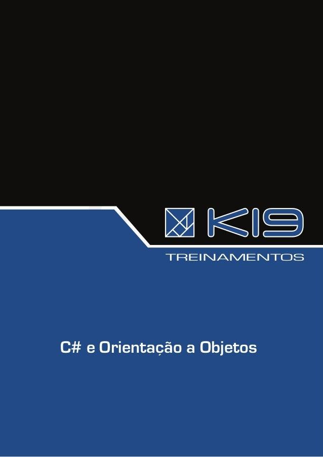 TREINAMENTOSC# e Orientação a Objetos