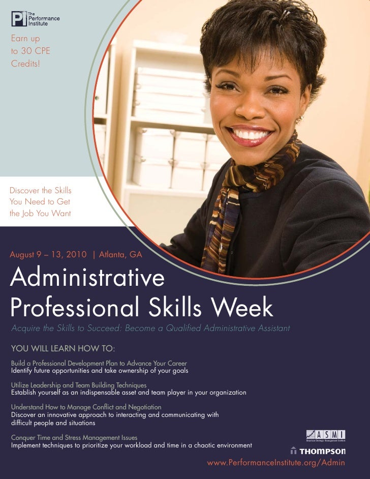 Earn up to 30 CPE Credits!     Discover the Skills You Need to Get the Job You Want    August 9 – 13, 2010 | Atlanta, GA  ...