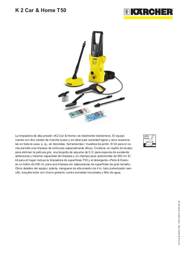 Hidrolimpiadora K 2 car & home T50 de Karcher