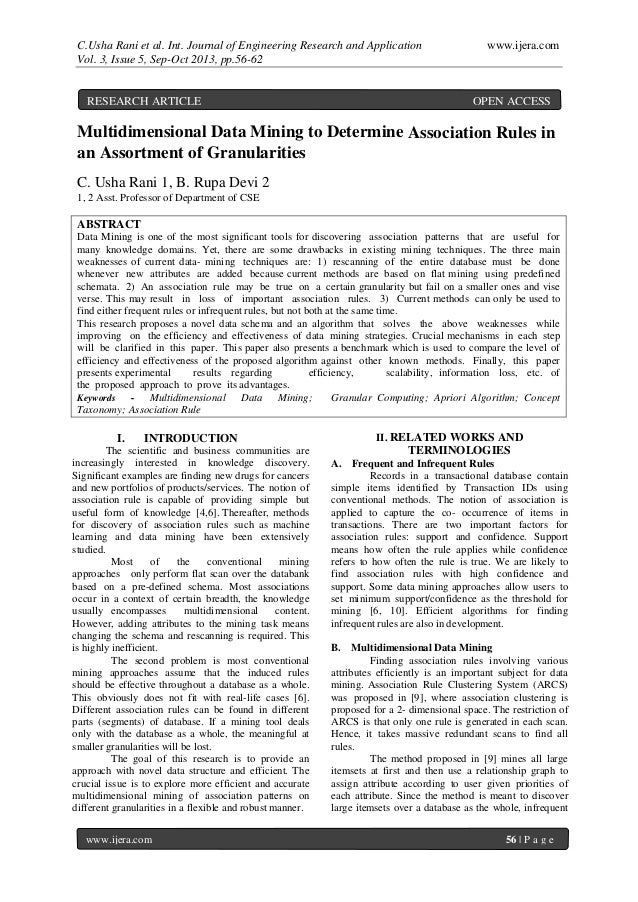 C.Usha Rani et al. Int. Journal of Engineering Research and Application www.ijera.com Vol. 3, Issue 5, Sep-Oct 2013, pp.56...
