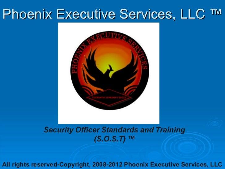 Phoenix Executive Services, LLC ™All rights reserved-Copyright, 2008-2012 Phoenix Executive Services, LLC