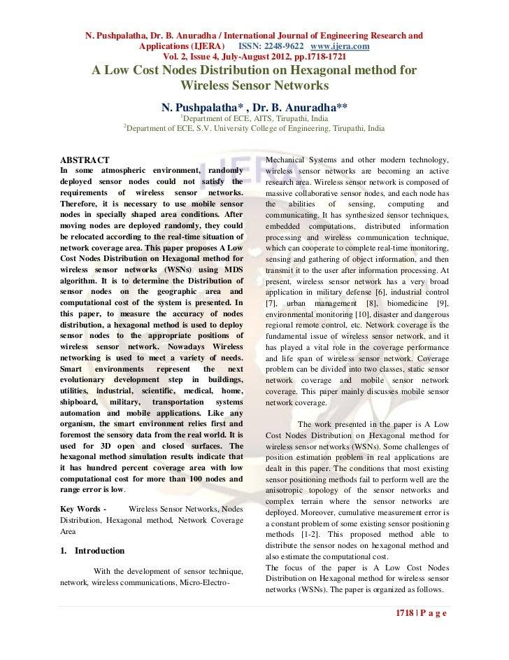 N. Pushpalatha, Dr. B. Anuradha / International Journal of Engineering Research and                    Applications (IJERA...