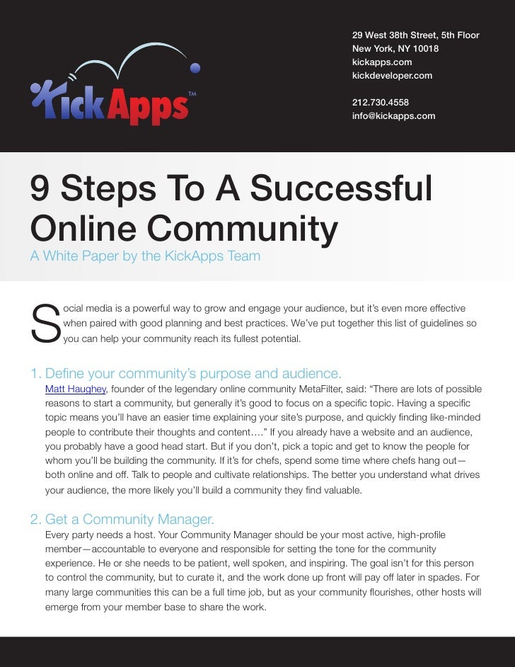 9 steps to building a community
