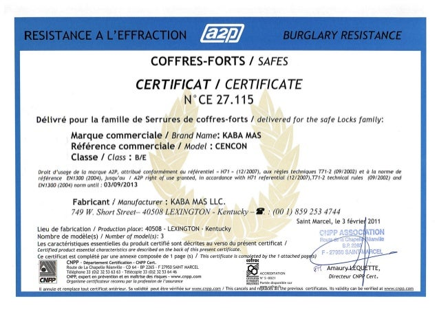 Kaba cencon2000 certificate_cnpp-a2p_01