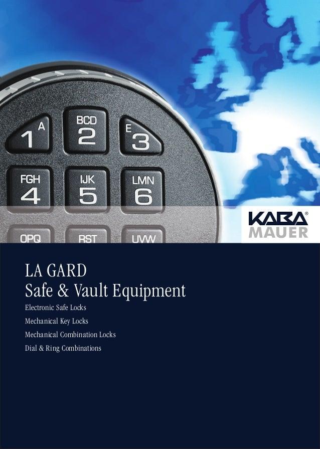 LA GARD Safe & Vault Equipment Electronic Safe Locks Mechanical Key Locks Mechanical Combination Locks Dial & Ring Combina...