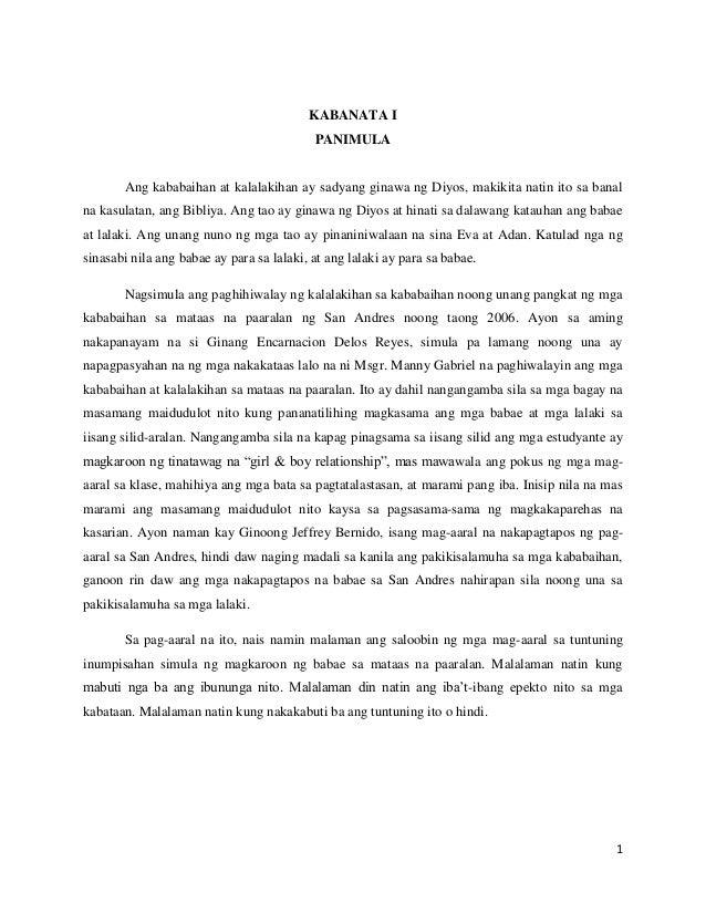 halimbawa ng term paper sa filipino analysis