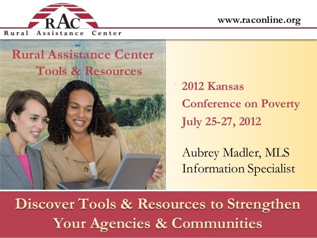 www.raconline.orgDiscover Tools & Resources to StrengthenYour Agencies & CommunitiesAubrey Madler, MLSInformation Speciali...