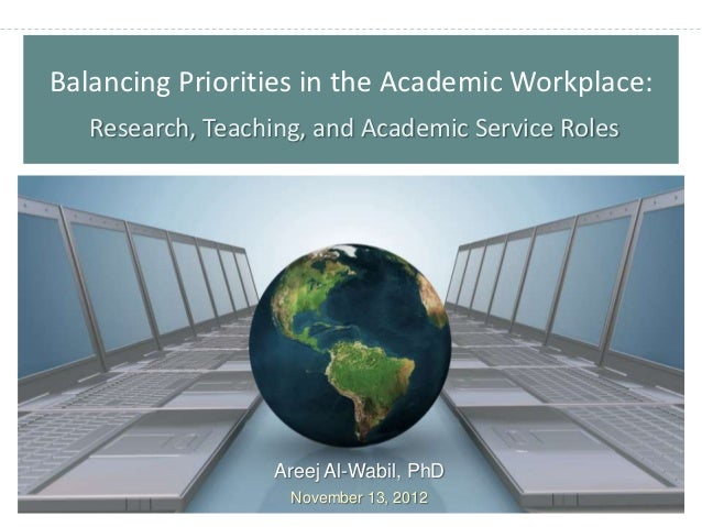 Balancing Priorities in the Academic Workplace:   Research, Teaching, and Academic Service Roles                   Areej A...