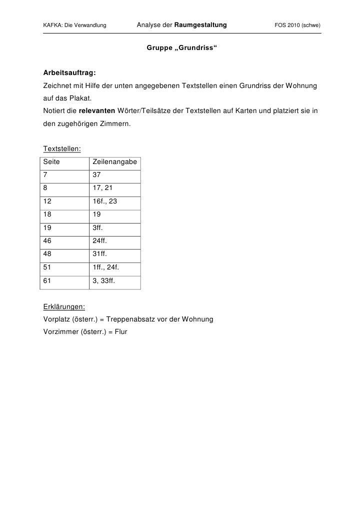 """Gruppe """"Grundriss""""<br />Arbeitsauftrag:<br />Zeichnet mit Hilfe der unten angegebenen Textstellen einen Grundriss der Wohn..."""
