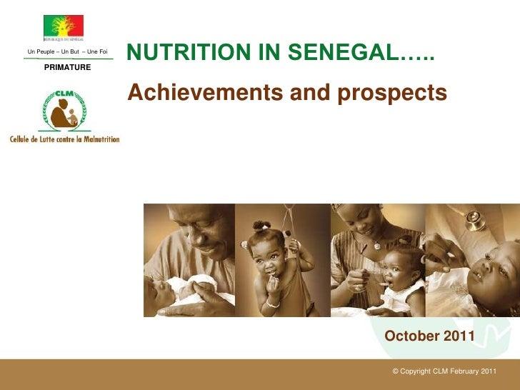 Un Peuple – Un But – Une Foi     PRIMATURE                               NUTRITION IN SENEGAL…..                          ...