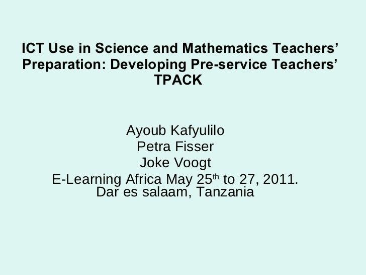 TPACK: E-learning africa 2011