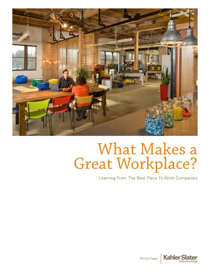 What Makes aGreat Workplace?   Learning From The Best Place To Work Companies                      White Paper