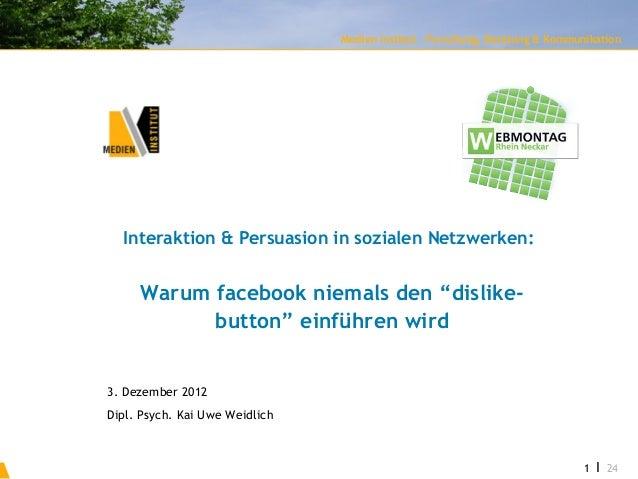 Interaktion & Persuasion in sozialen Netzwerken   Medien Institut - Forschung, Beratung & Kommunikation                   ...