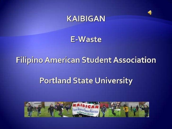 Kaibigan and RDC -E-waste