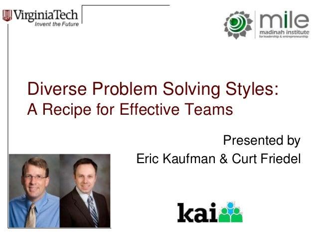 effective problem solving techniques in teams
