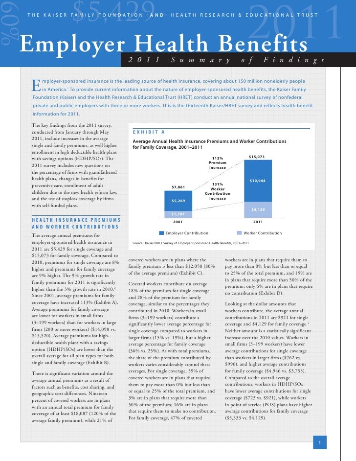 Kaiser 2011 Er Health Benefits Survey[1]