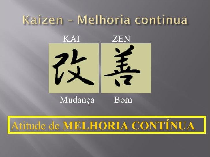 Mudança Bom Atitude de  MELHORIA CONTÍNUA KAI ZEN