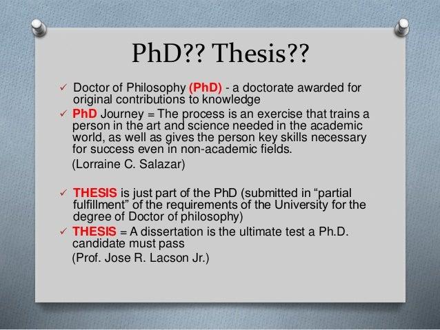 Phd thesis original contribution