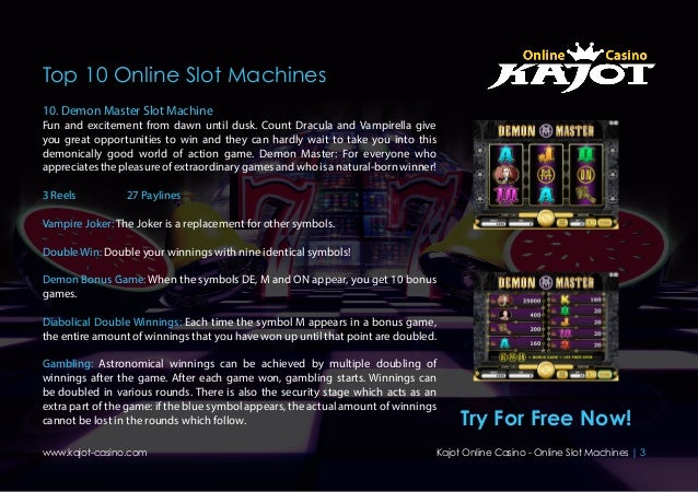 Demon Master Slot Machine - Free Online Casino Game by Kajot