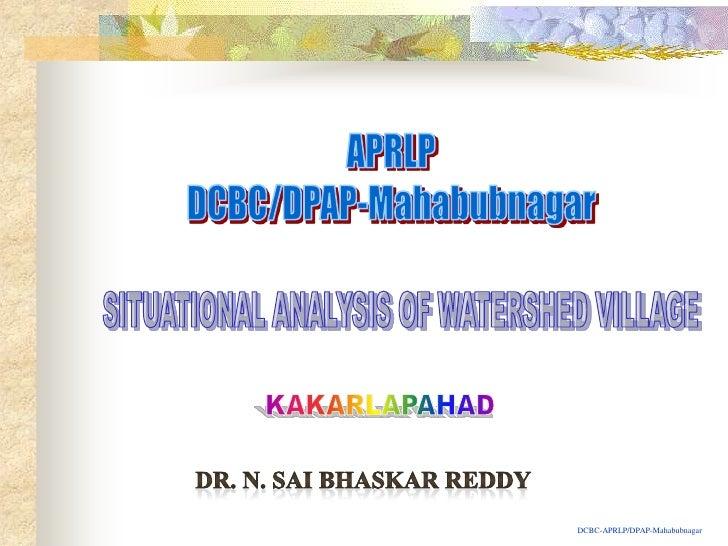 Kakarlapahad Situational Analysis Report nsbr