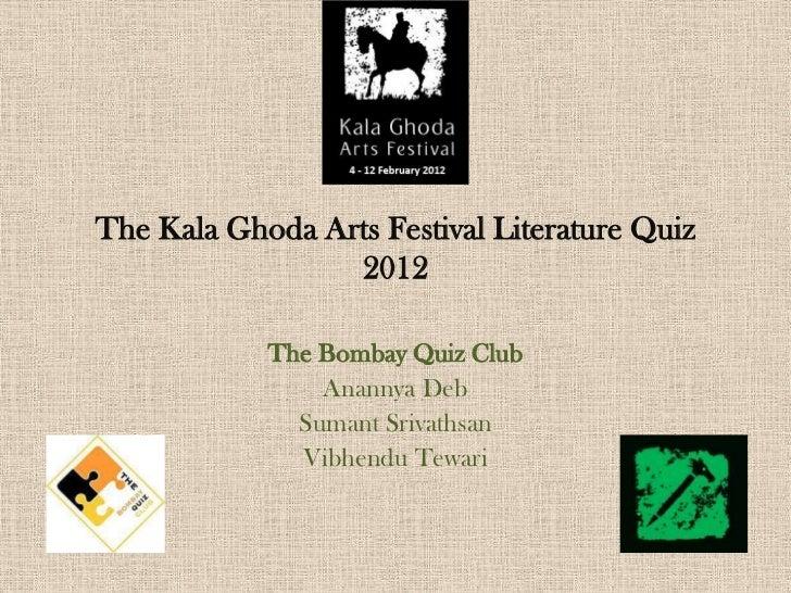 Kalaghoda Arts Festival - Literature Quiz - Prelims