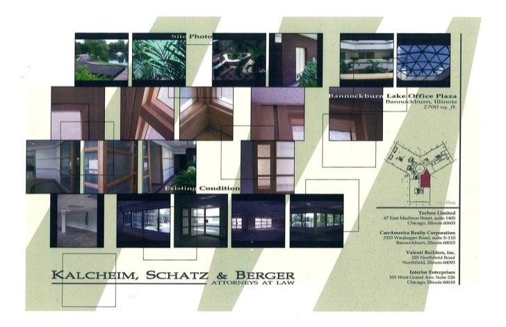 Kalcheim Schultz & Berger, Chicago