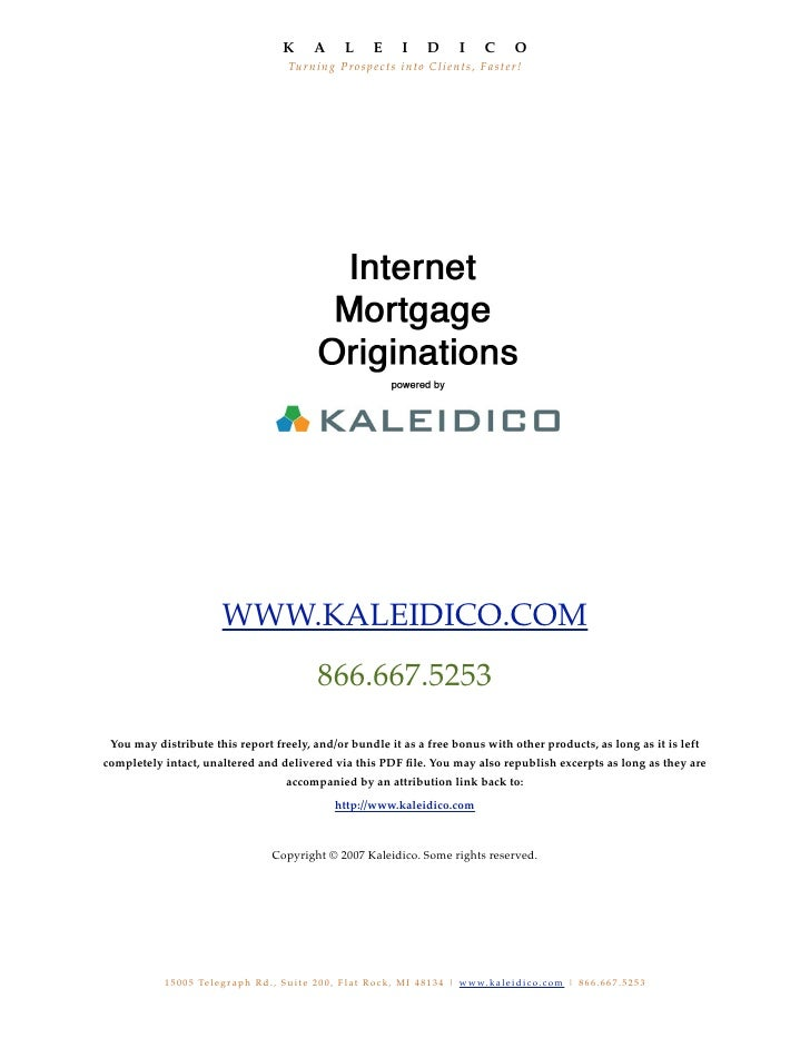 Kaleidico Internet Mortgage