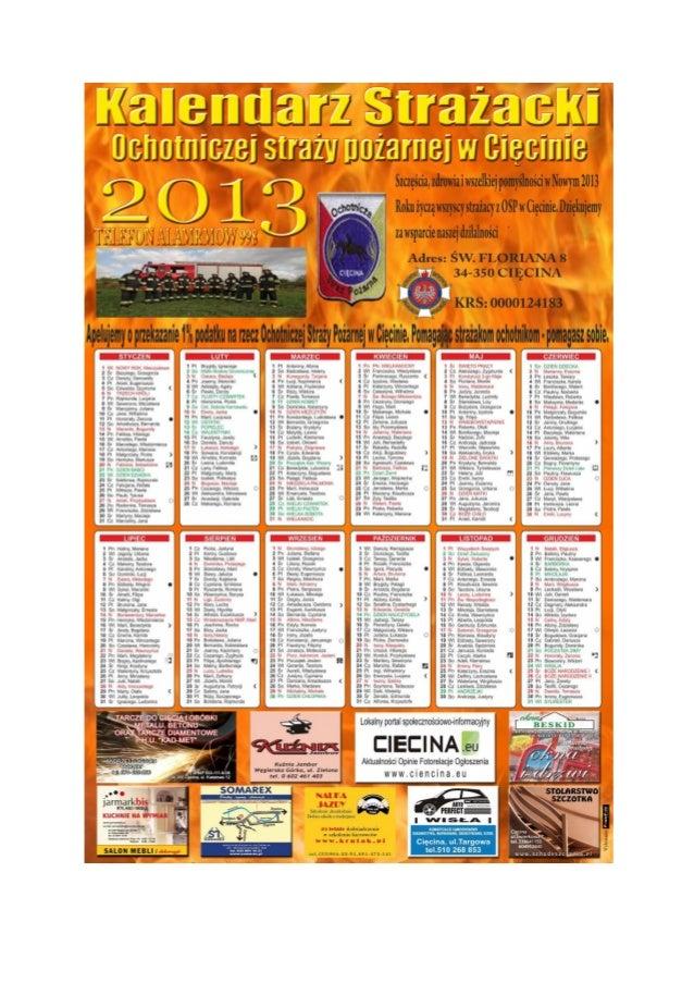 Kalendarz strazacki 2013