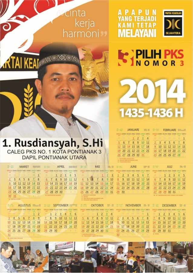 Kalender Rusdiansyah S.Hi, CALEG 1 PONTURA