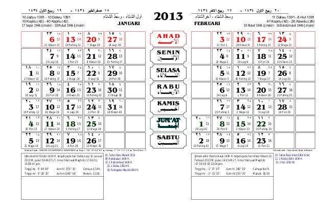 Kalender gresik 2013