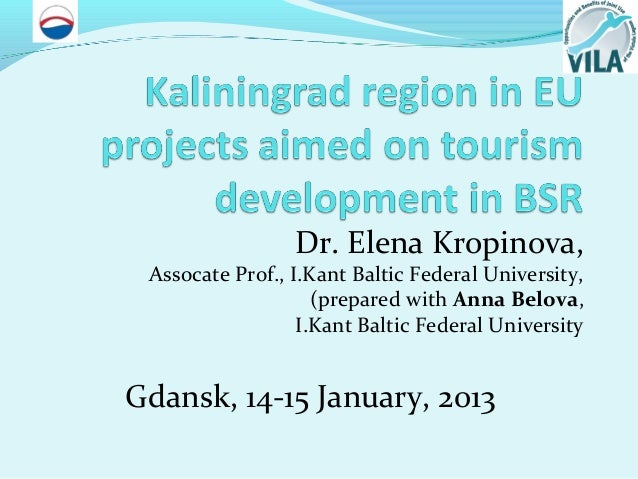 Kaliningrad region in eu projects aimed on tourism development in bsr 14 01_12_short