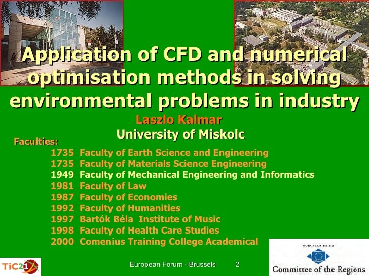 Application of CFD and numerical optimisation methods in solving environmental problems in industry
