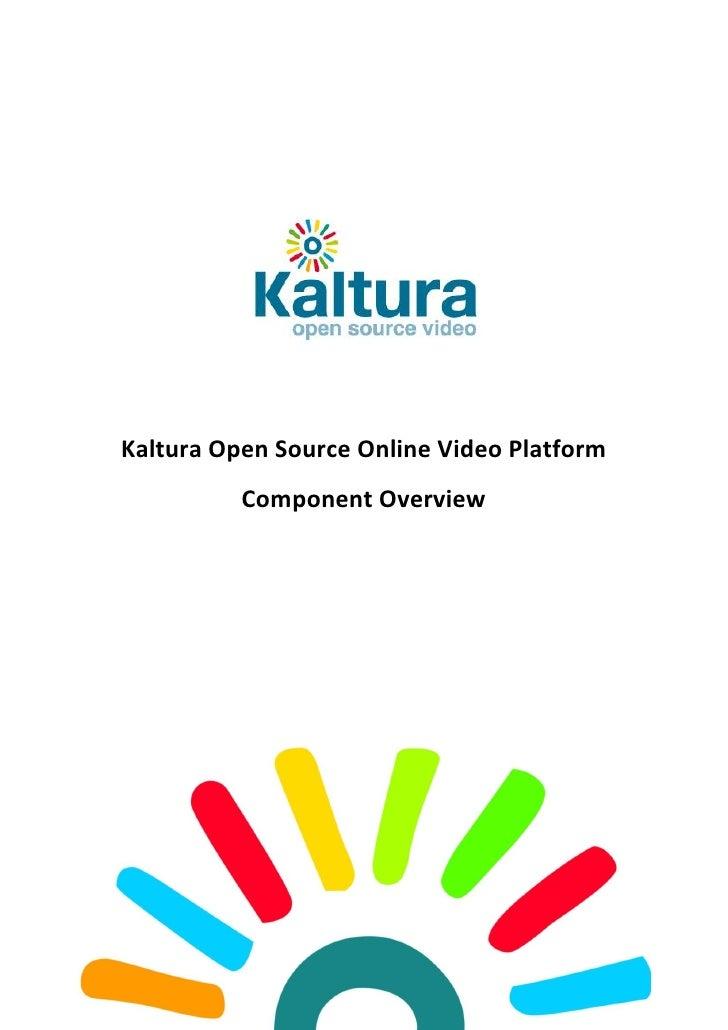 Kaltura Platform Overview 1